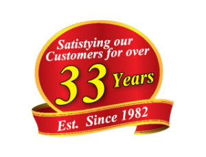 33 Years of service